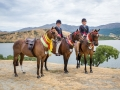 Champion Ponies in front of lake
