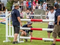 Local Swim Club men helping with Show Jump building