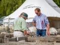Sheep judges deciding on a winner